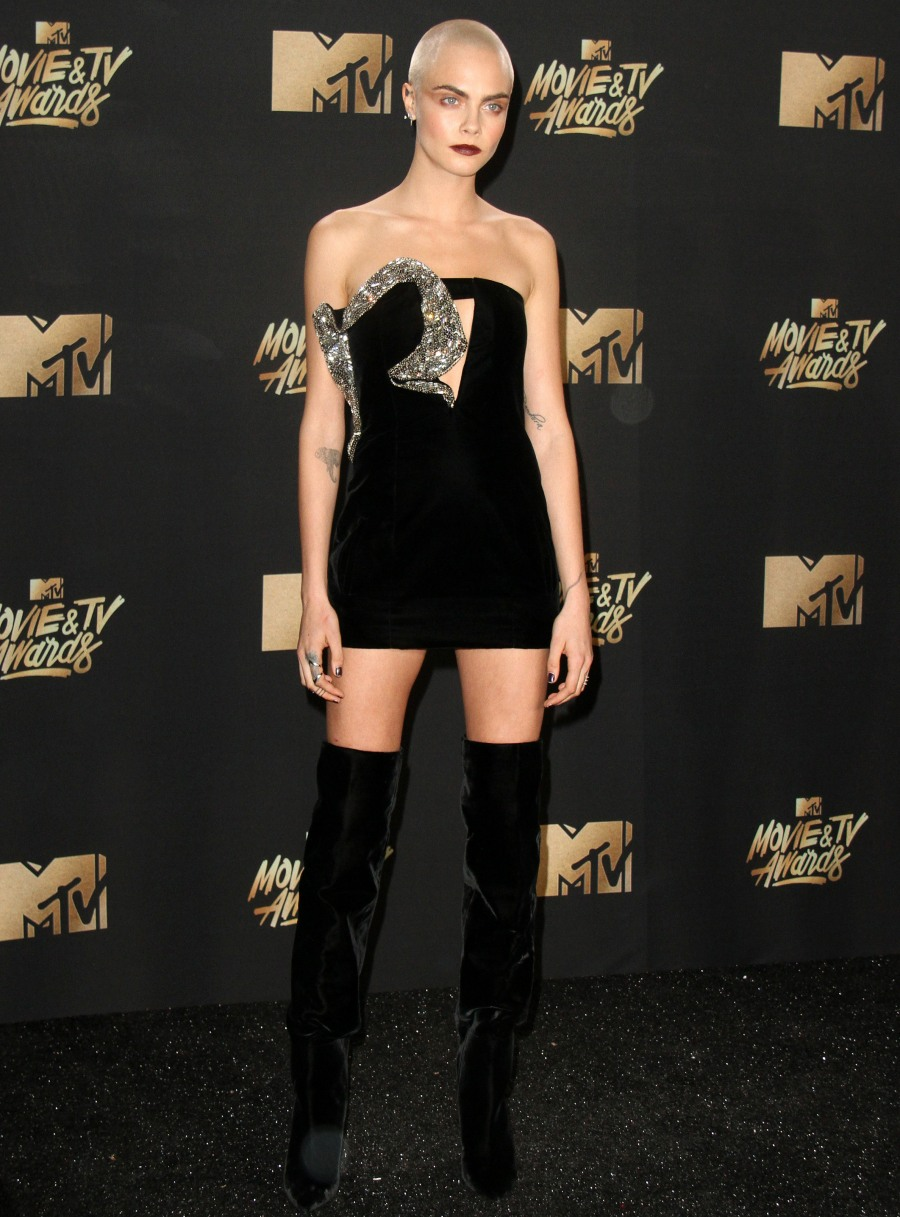 2017 MTV Movie & TV Awards - Arrivals held at the Shrine Auditorium in Los Angeles. Featuring: Cara Delevingne Where: Los Angeles, California, United States When: 07 May 2017 Credit: Adriana M. Barraza/WENN.com